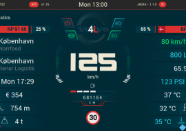 Eurotruck Simulator 2 Dashboard skin screenshot